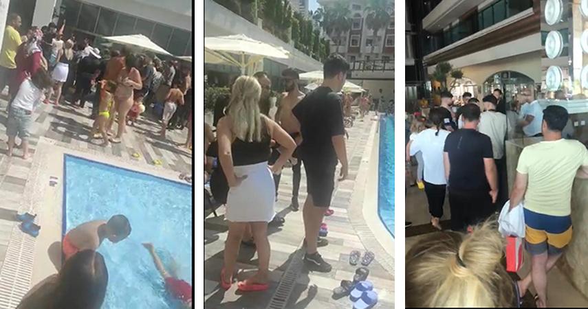 Otelin isim ve sahibinin değişmesi ile tatil hayalleri suya düşenler otelin havuzunu bastı