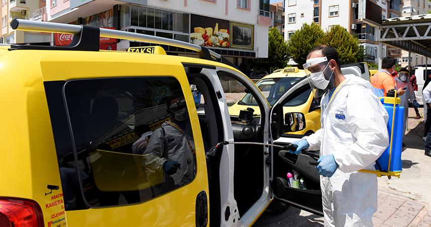 Servis ve taksiler ücretsiz dezenfekte edilecek