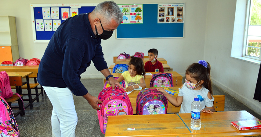 Başkandan Yangınzede çocuklara eğitim seti
