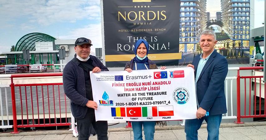 Finike Eroğlu Nuri Anadolu İmam Hatip Lisesi, Erasmus projesi kapsamında Romanya'da
