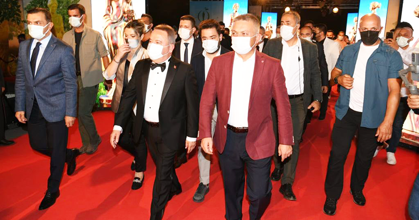Vali Yazıcı 58'inci Antalya Altın Portakal Film Festivali Açılış Törenine Katıldı