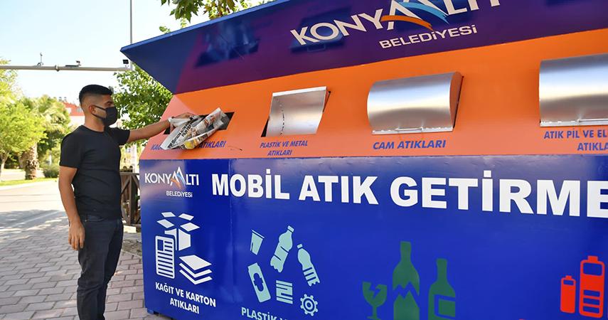 Konyaaltı'nda mahallelere mobil atık getirme merkezi